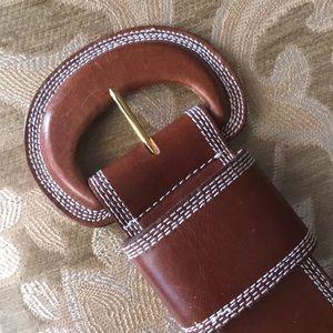Robinson's cognac Leather thick belt